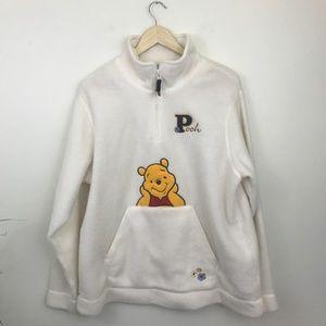Winnie the Pooh 1/4 Zip Fleece W/ Kangaroo Pocket